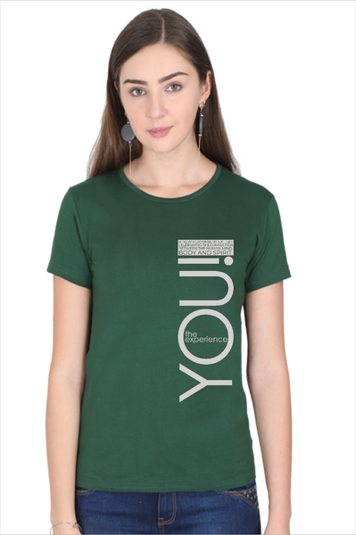 rTeee Graphic Printed T-Shirt for Women | Half Sleeve T-Shirt | Round Neck T Shirt | You the Experience