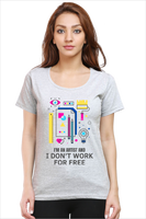 rTeee Graphic Printed T-Shirt for Women | Half Sleeve T-Shirt | Round Neck T Shirt | I'm an Artist