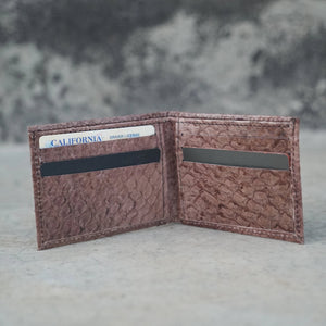The Upstream | Red-Brown Fish Leather Wallet