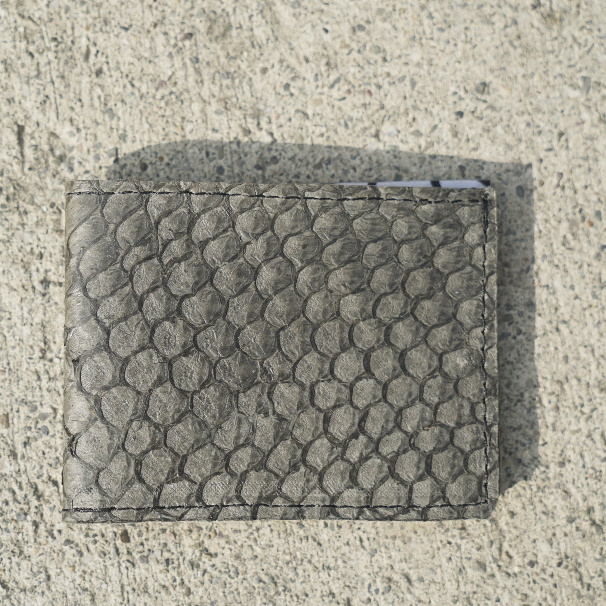 The Sleek Line | Tan Fish Leather Wallet