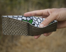 Load image into Gallery viewer, The Sleek Line | Tan Fish Leather Wallet