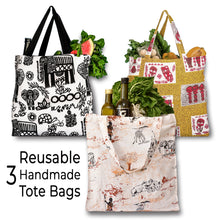 Load image into Gallery viewer, Eco Friendly Tote | Grocery Bag | Shopper Bag | Vegan Tote Bag