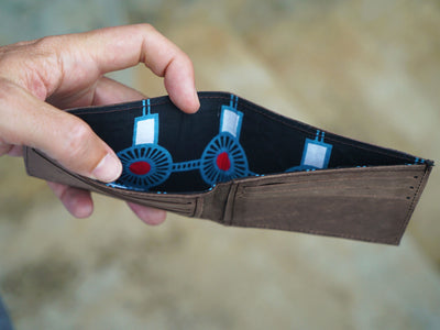 best mens wallets slim, hand stitched