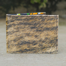Load image into Gallery viewer, Furry Cowhide Leather Wallet