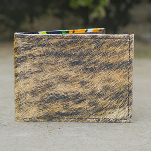 Furry Cowhide Leather Wallet