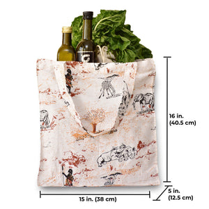 Canvas Grocery Bag | Reusable Grocery Bag with Handles | Farmers market bag