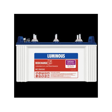 Luminous 12V-120AH Tubular Battery REDCHARGE 15000