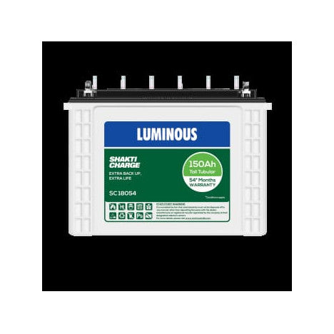 Luminous 12V-150AH Tall Tubular Battery SC18054
