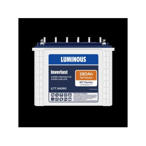 Luminous 12V-180AH Tall Tubular Battery ILTT 24060