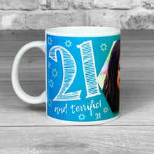 Load image into Gallery viewer, 21st Birthday Personalised Hex Photo Mug