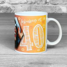 Load image into Gallery viewer, 40th Birthday Personalised Hex Photo Mug
