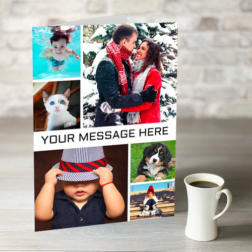 NOW ONLY £7.99! 6 Photo Upload Birthday Card