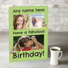 Load image into Gallery viewer, NOW ONLY £7.99! Happy Birthday Green Photo Upload
