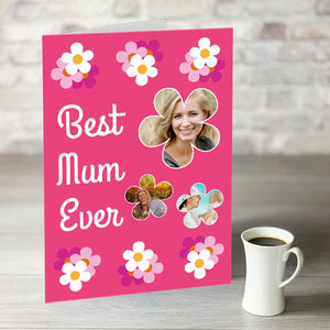 NOW ONLY £7.99!  Best Mum Ever Card With Photo Upload