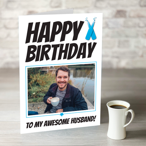 NOW ONLY £7.99!  Happy Birthday Awesome Husband Card