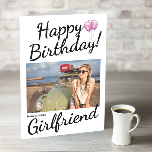 NOW ONLY £7.99!  Happy Birthday Amazing Girlfriend Card