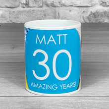 Load image into Gallery viewer, Any age Mug with personalised Name
