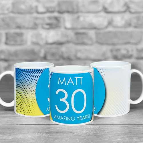 Any age Mug with personalised Name