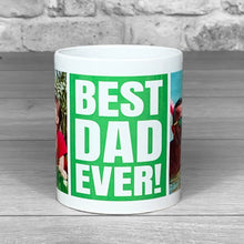 Load image into Gallery viewer, Best Dad Ever Green Personalised Photo Mug