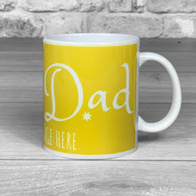 Load image into Gallery viewer, Best Dad Text Personalised Photo Mug - Choice of colours!