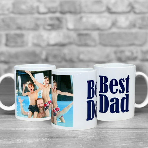 Best Dad Personalised Photo Mug - 1 photo upload