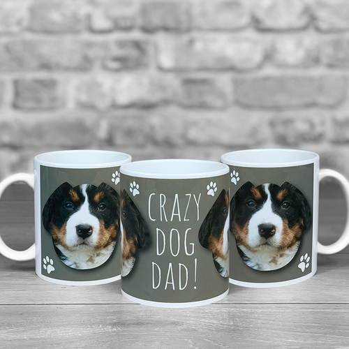 Crazy Dog Dad Personalised Photo Mug
