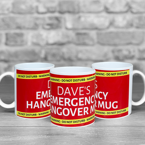 Emergency Hangover Mug Personalised Name
