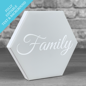 Hexcanvas personalised typography single - PERSONALISE ME