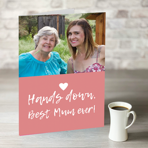 NOW ONLY £7.99! Hands Down - Best Mum Ever! Photo Upload