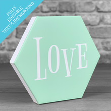Load image into Gallery viewer, Hexcanvas personalised typography single - PERSONALISE ME