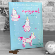 Load image into Gallery viewer, Magical Unicorn Christmas Advent Calendar