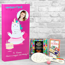 Load image into Gallery viewer, Magical Unicorn Personalised Birthday Card - Letterbox Gift Set