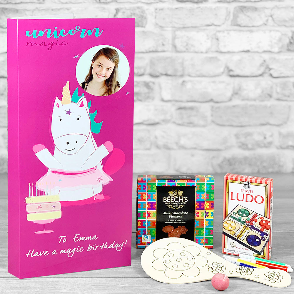Magical Unicorn Personalised Birthday Card - Letterbox Gift Set