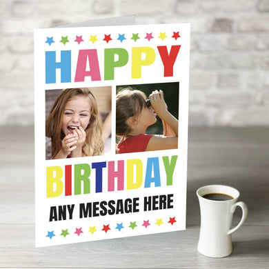NOW ONLY £7.99! Multi coloured Birthday Card