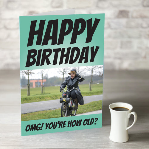 OMG How Old Photo Upload Birthday Card