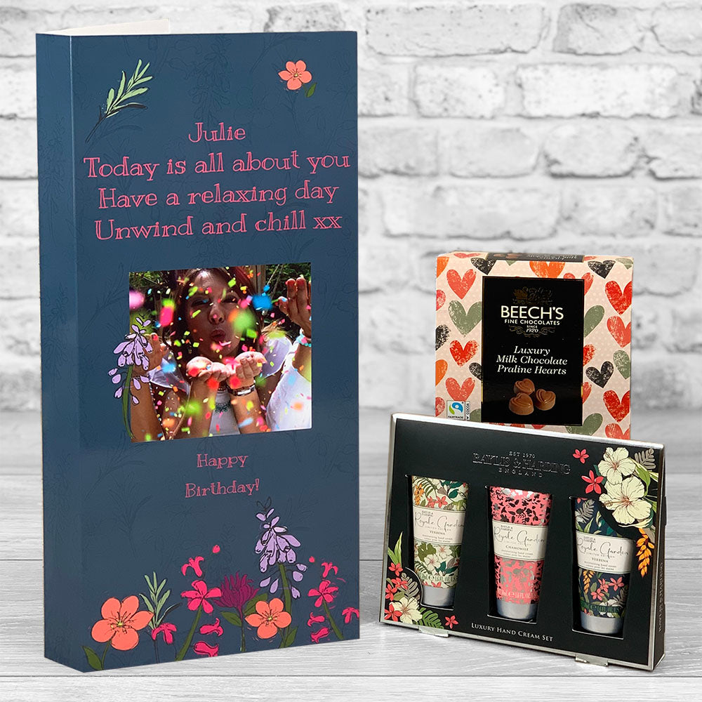 Birthday, Friendship Pamper Personalised Card - Letterbox Gift Set