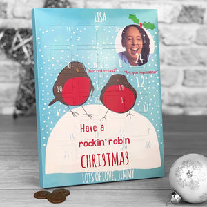 Rockin' Robin Red Breast Photo Upload Advent Calendar *ADULT HUMOUR*