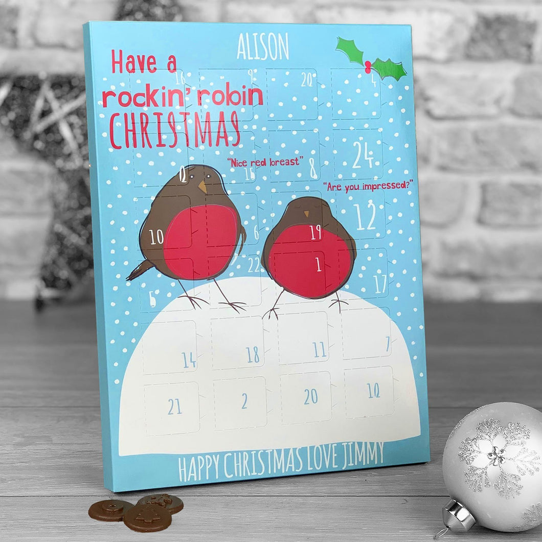 Rockin' Robin Red Breast Advent Calendar *ADULT HUMOUR*