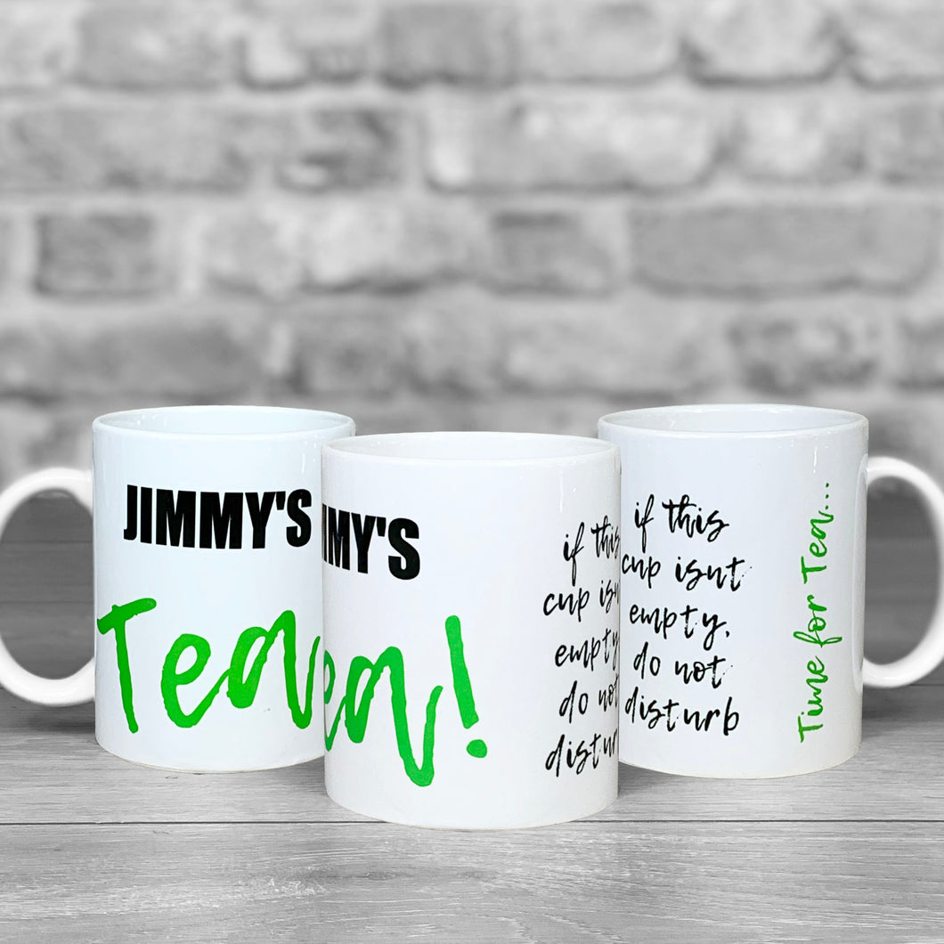 Tea Mug With Personalised Name