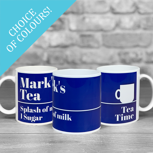 Tea Mug 'How do you like yours?' with Personalised Name