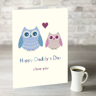 Happy Daddy's Day Owl Card