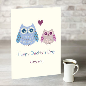 NOW ONLY £7.99! Happy Daddy's Day Owl Card
