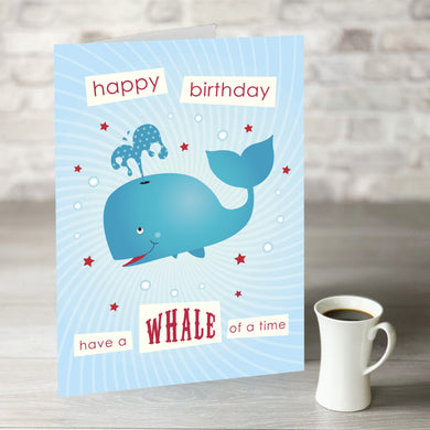 NOW ONLY £7.99! Whale of a Time Birthday Card