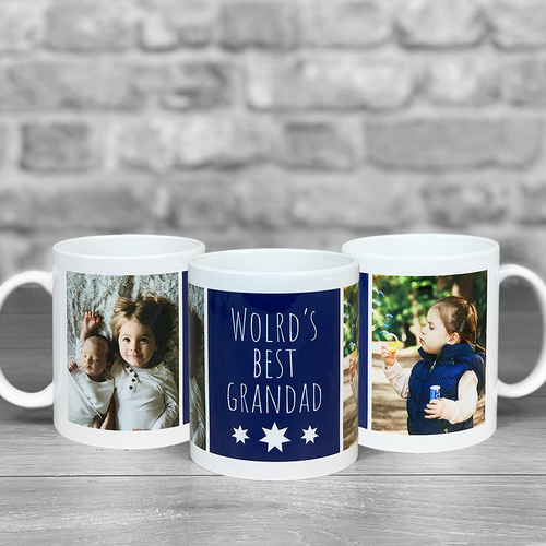 World's Best Grandad Photo Upload Mug