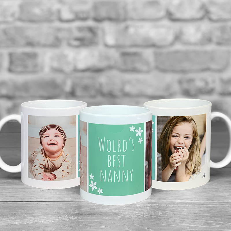 World's Best Nanny Photo Upload Mug