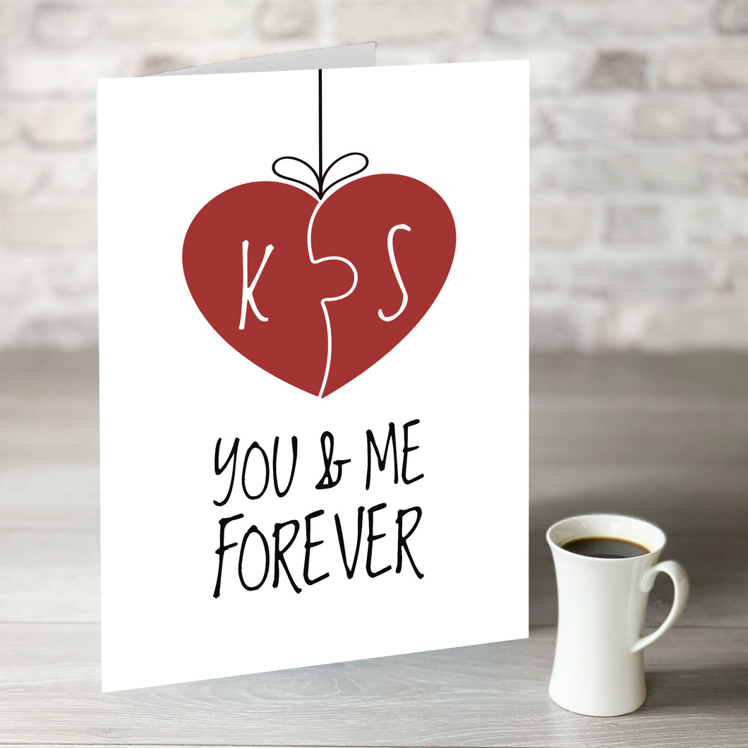 You & Me Forever - Personalised Initials