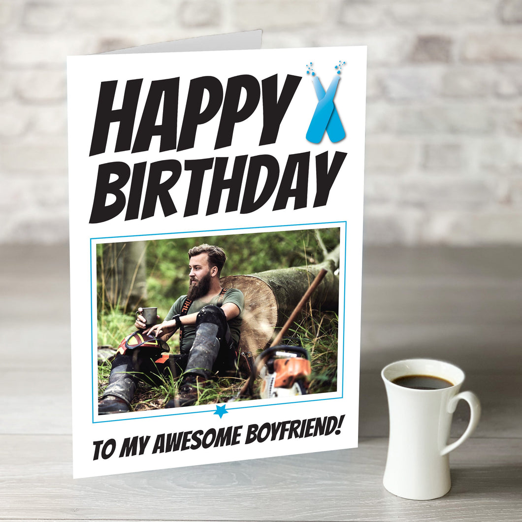 Happy Birthday Awesome Boyfriend Card