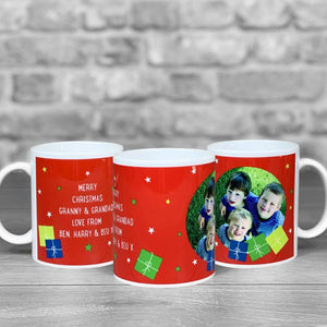 Christmas Mug - Presents in Red