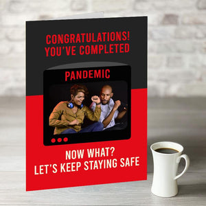 NOW ONLY £7.99!  Pandemic Greetings Card With Photo Upload