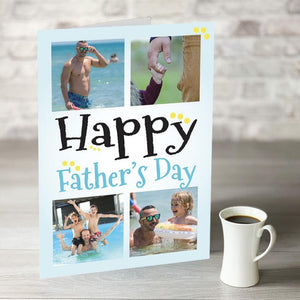 NOW ONLY £7.99!  Happy Fathers Day with 4 Photo Upload